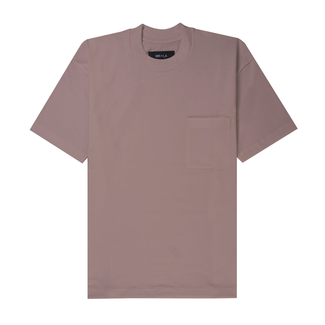 ULTRA HEAVY MAUVE POCKET BOX TEE