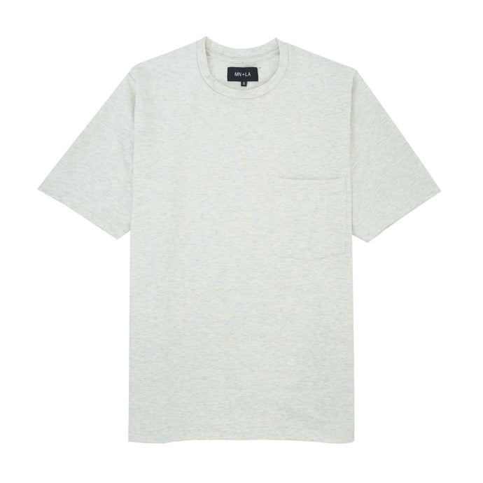 OATMEAL OVERSIZED POCKET TEE
