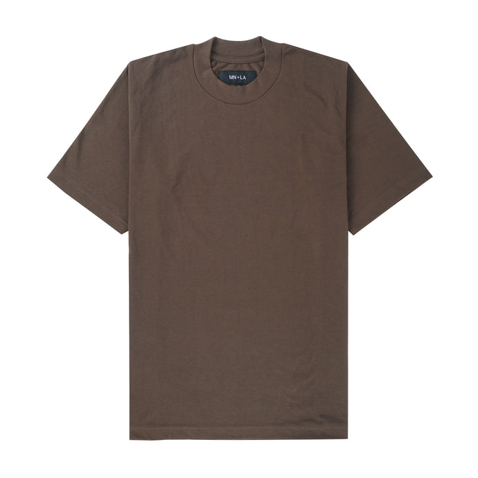 OLIVE PIQUE OVERSIZED TEE