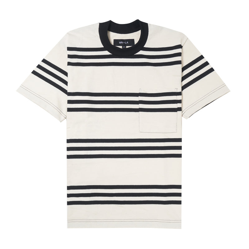STRIPED POCKET CLASSIC TEE