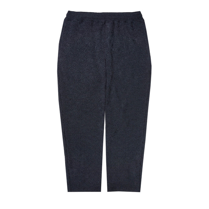 SEERSUCKER CROPPED PANTS IN NAVY