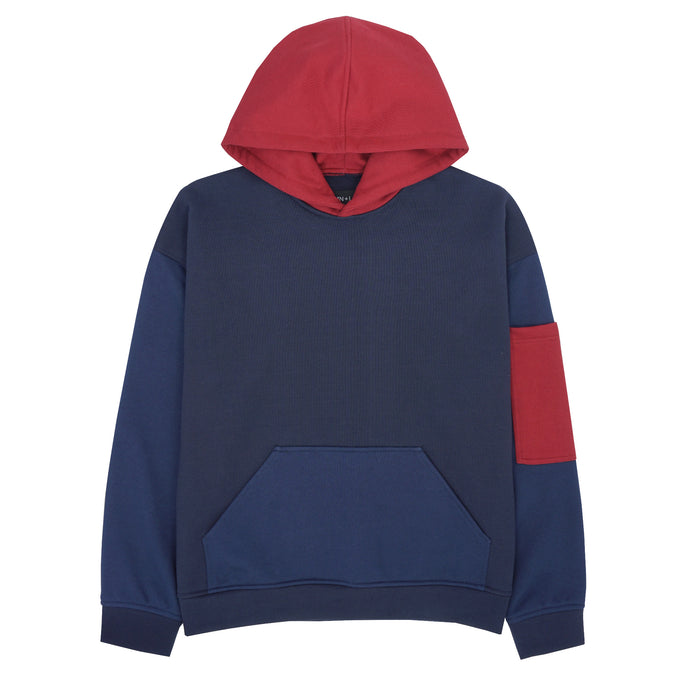 NAVY/RED HEAVYWEIGHT HOODIE