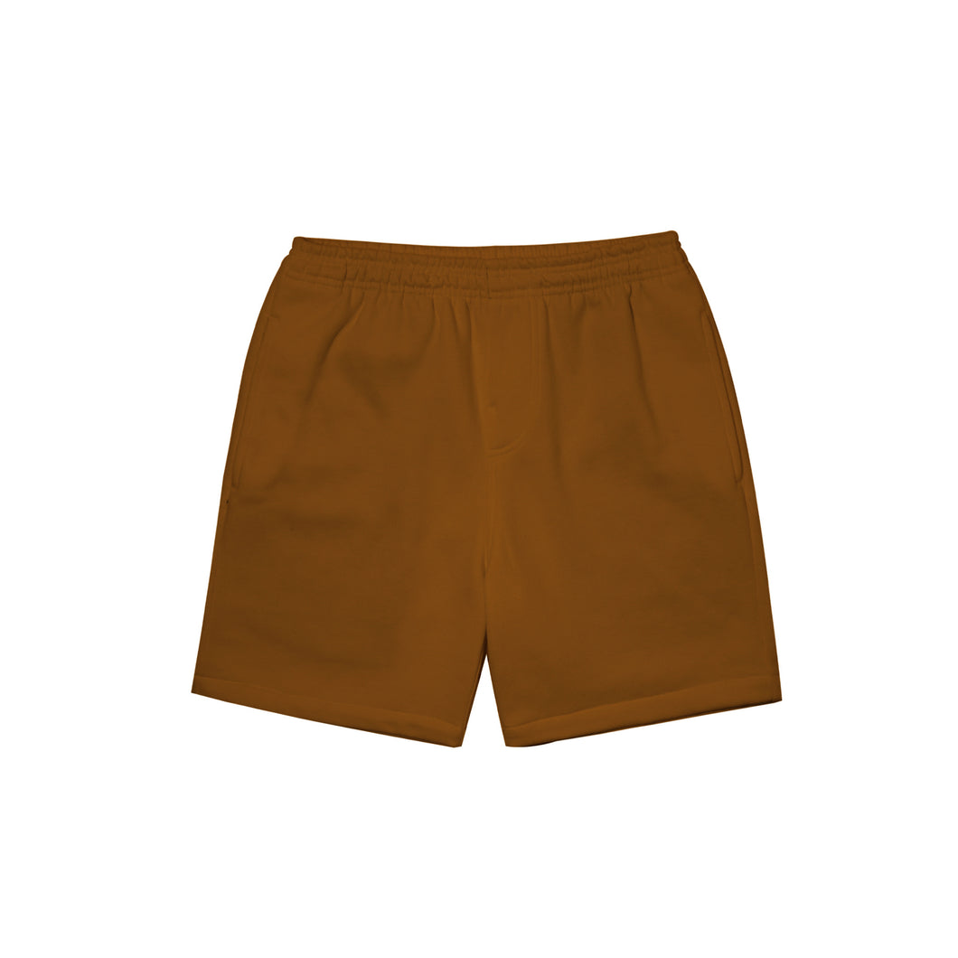 RUST FRENCH TERRY SWEATSHORTS