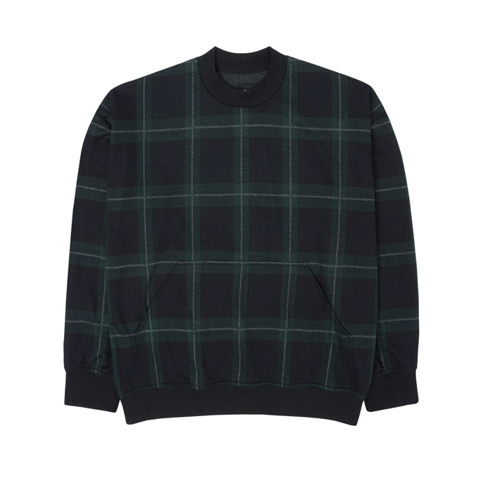 GREEN/BLACK TARTAN OVERSIZED SWEATSHIRT