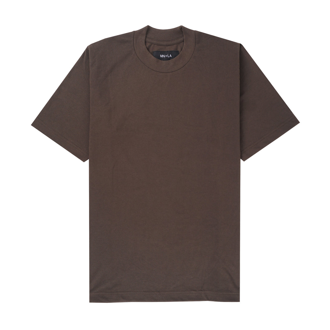 BROWNSTONE PIQUE OVERSIZED TEE