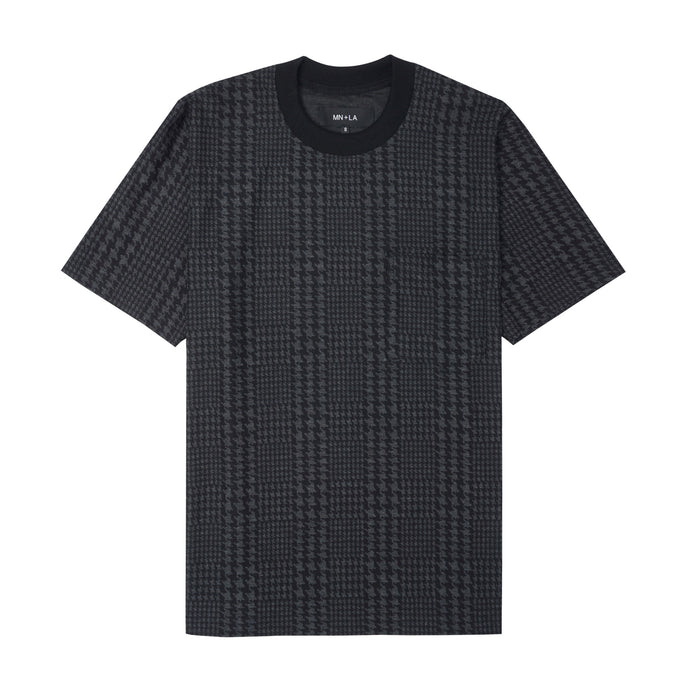 HOUNDSTOOTH OVERSIZED POCKET TEE