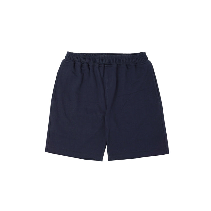NAVY RAW HEM SHORTS