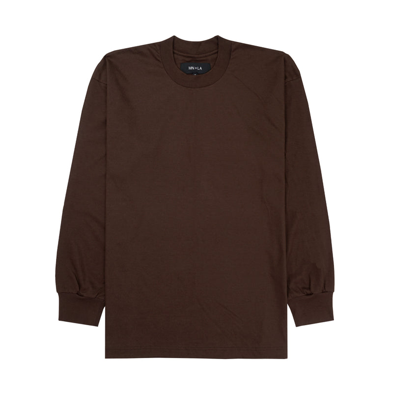 BROWN LONGSLEEVE TEE