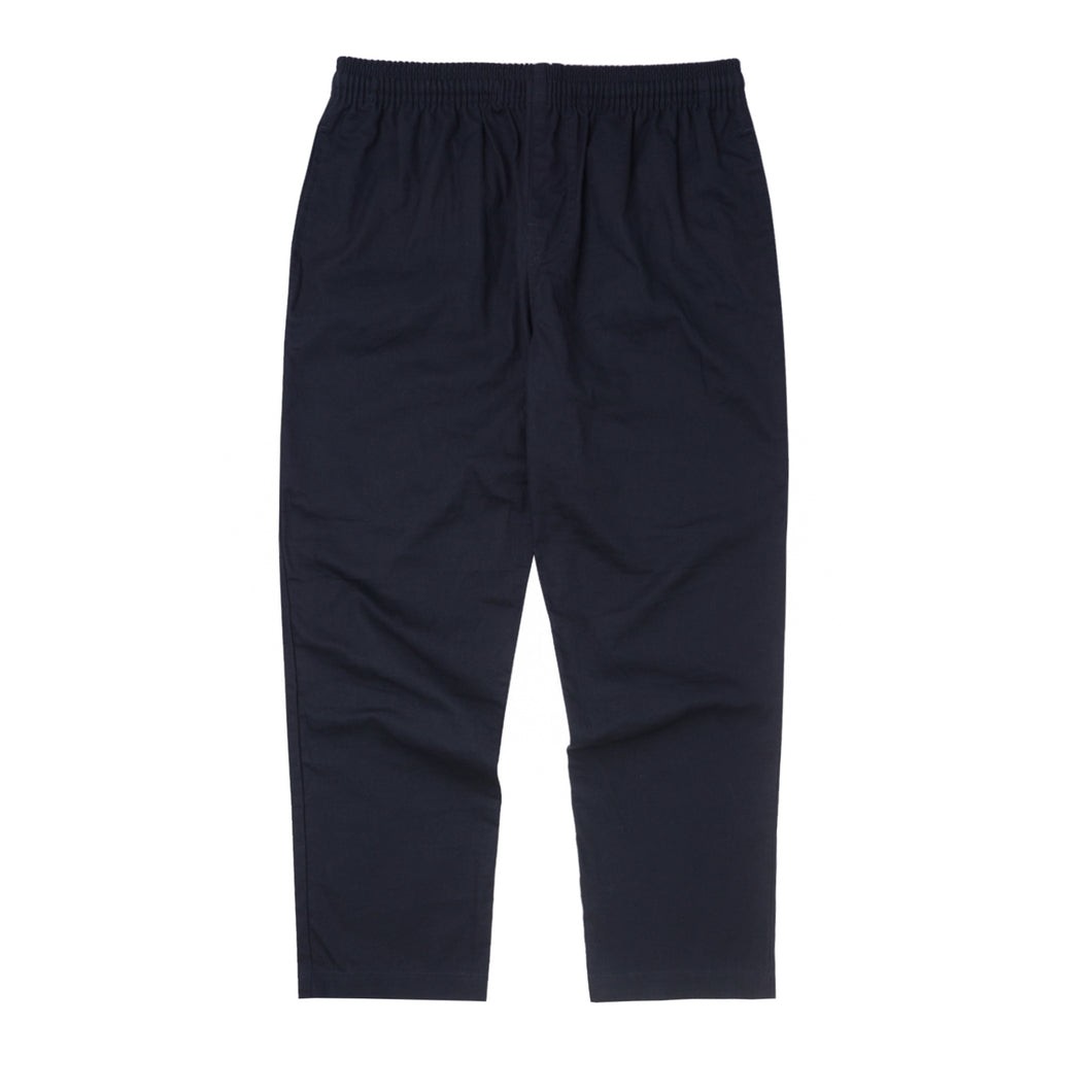 NAVY MIDWEIGHT TWILL CROPPED PANTS