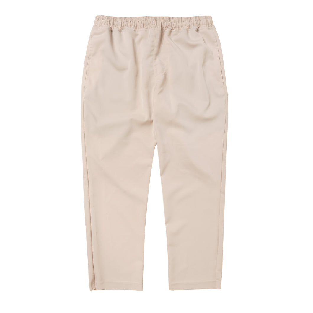 OFF WHITE NYLON RAW HEM CROPPED PANTS