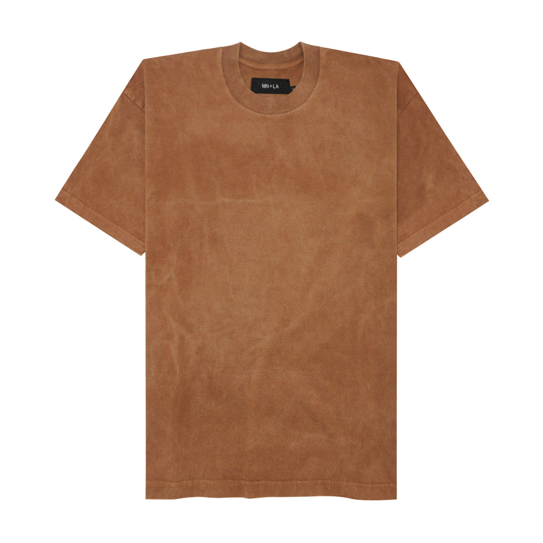 SUN FADED CAMEL BROWN VINTAGE BOX TEE