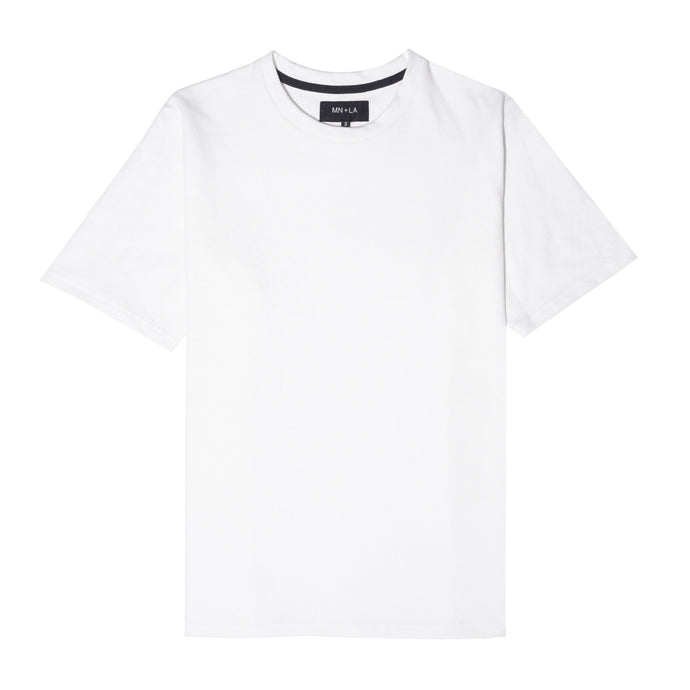 WHITE FRENCH TERRY OVERSIZED TEE