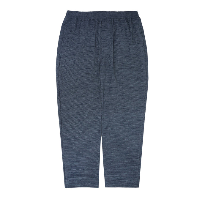 SEERSUCKER CROPPED PANTS IN STEEL TEAL