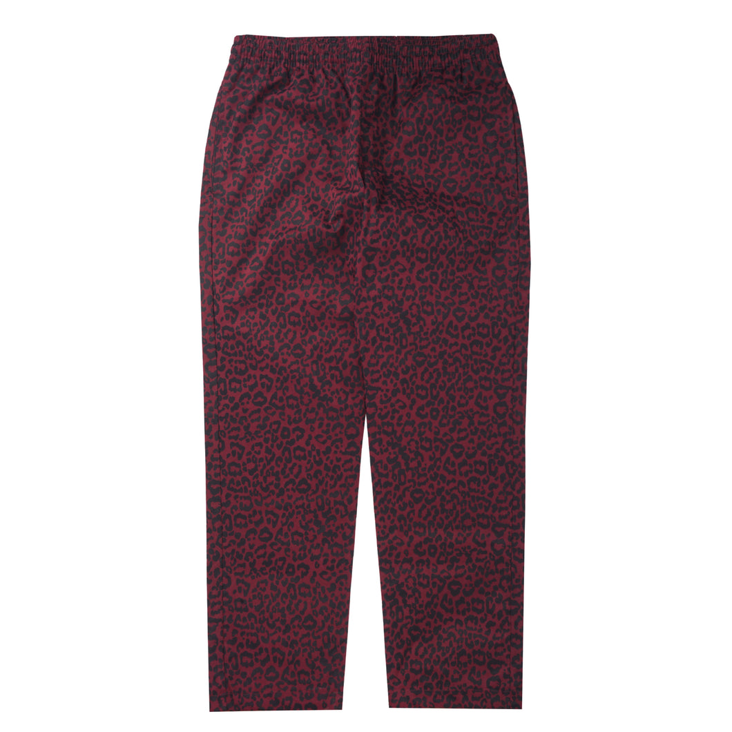 WINE CHEETAH WIDE LOUNGE PANTS