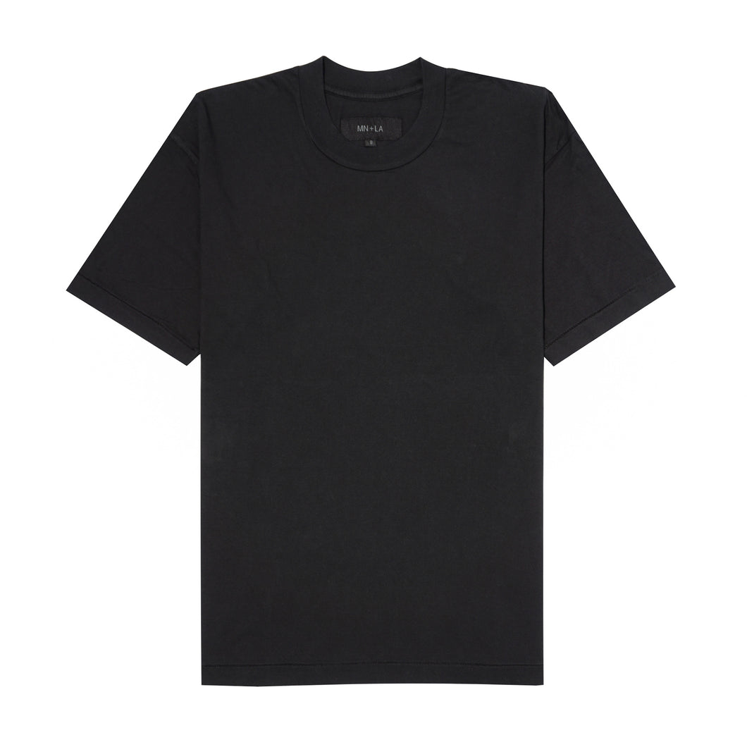 SMOKE BLACK SINGLE STITCH VINTAGE BOX TEE