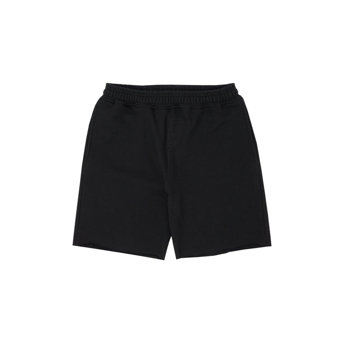 CHARCOAL RAW HEM SHORTS