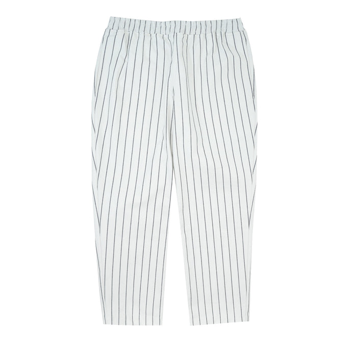WHITE STRIPED CROPPED PANTS