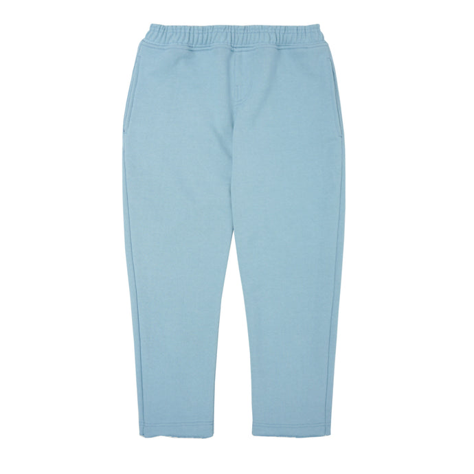 TEAL RAW HEM CROPPED PANTS