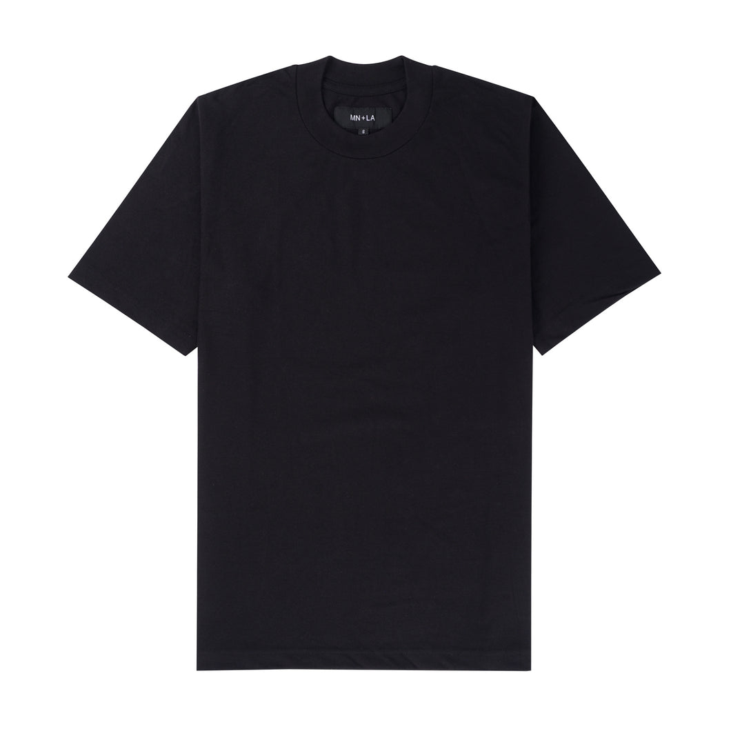 CHARCOAL PIQUE OVERSIZED TEE