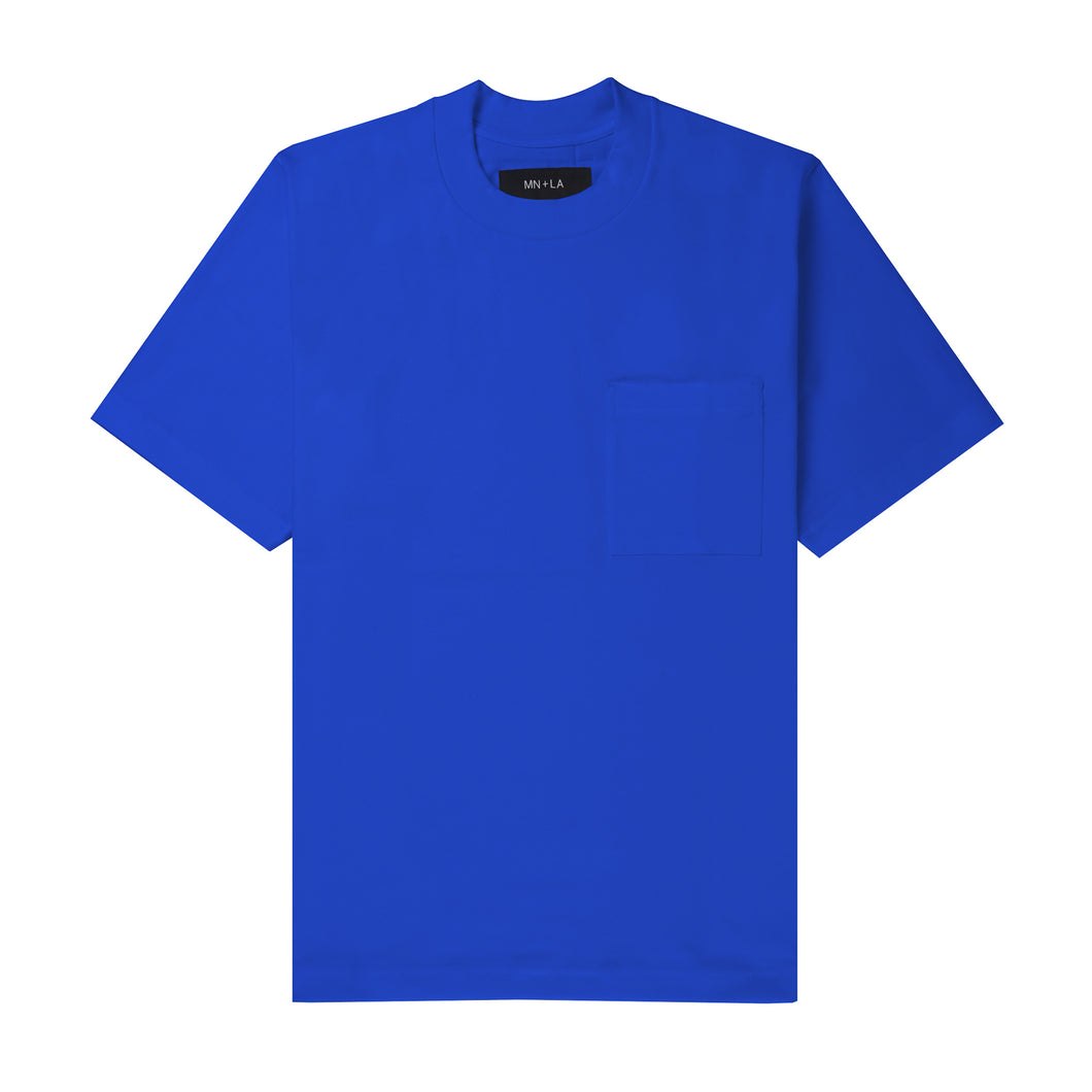 ULTRA HEAVY ELECTRIC BLUE OVERSIZED POCKET TEE