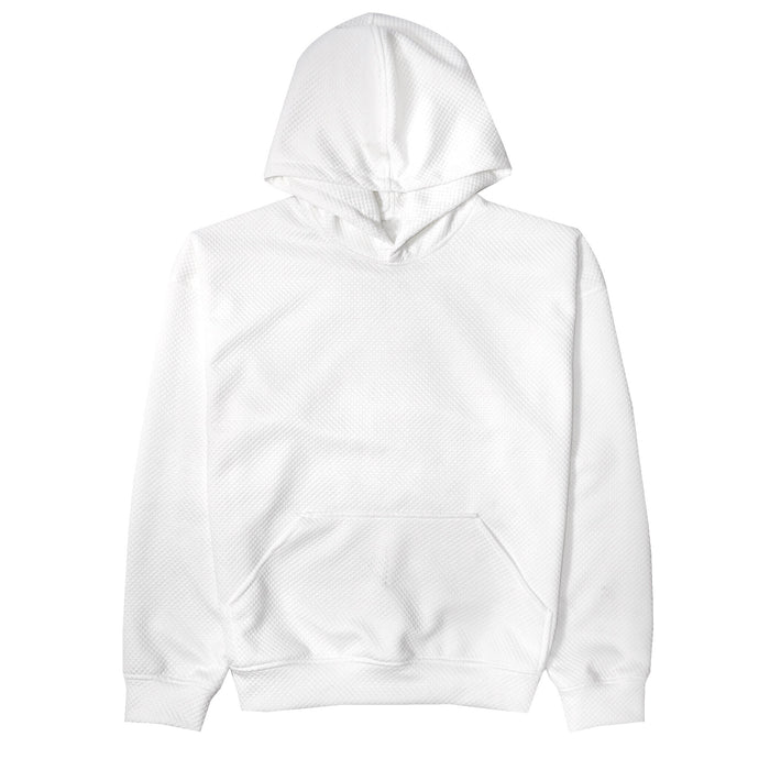 COCAINE WHITE MICRO-QUILT HOODIE