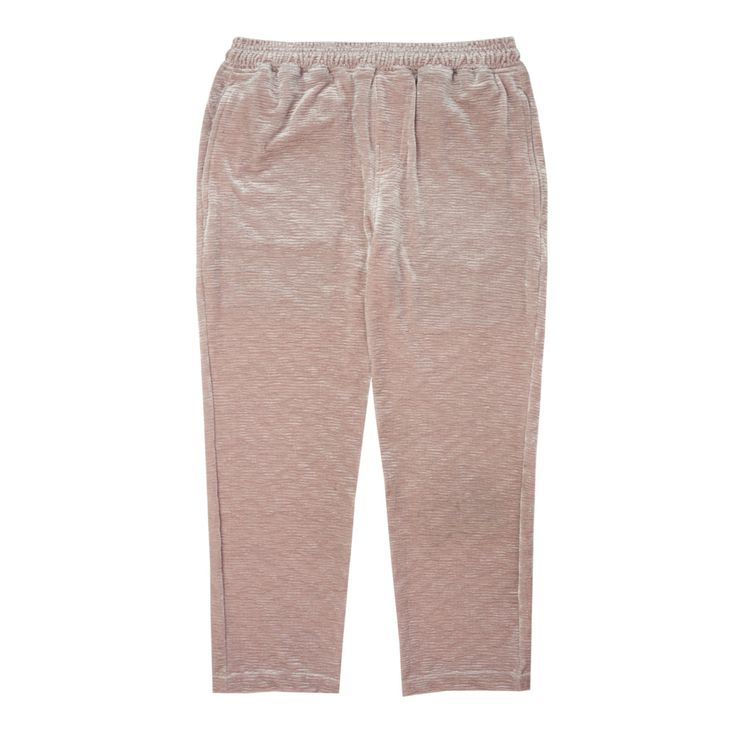 ROSE PLEATED VELOUR CROPPED PANTS