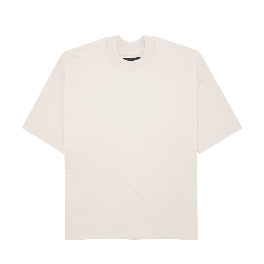FRENCH TERRY OAT MOCK NECK TEE