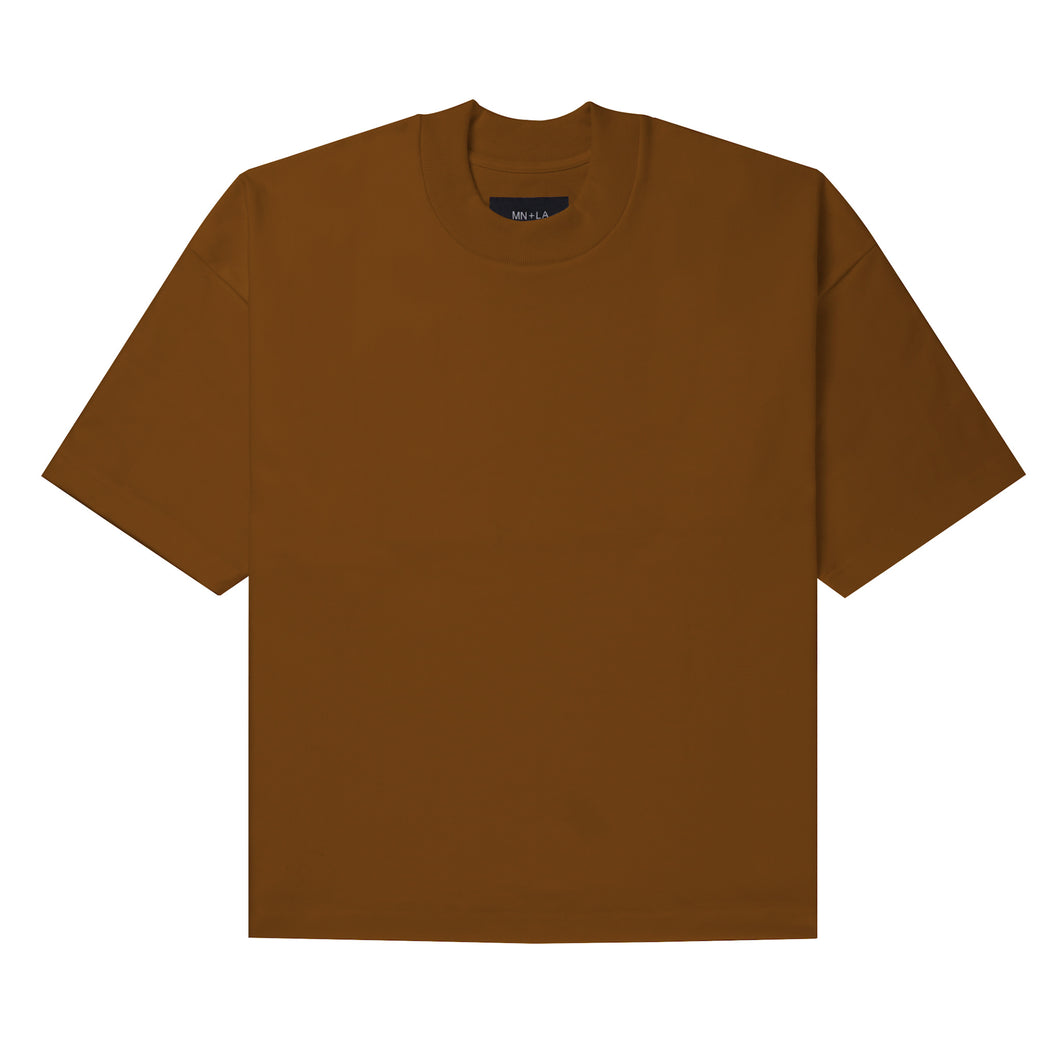 ULTRA HEAVY RUST MOCK NECK TEE