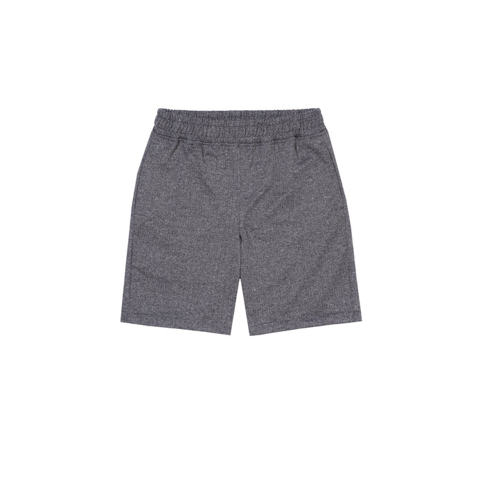 GREY HERRINGBONE SWEATSHORTS