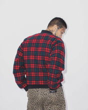 HOLIDAY PLAID BOMBER JACKET