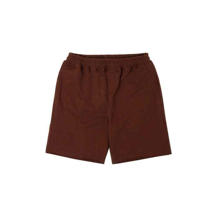 RUST RAW HEM SHORTS