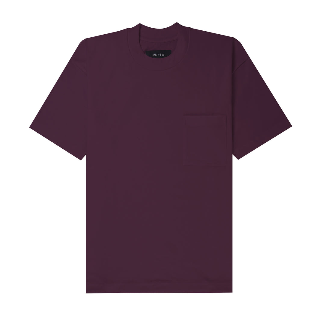 ULTRA HEAVY WINE POCKET BOX TEE