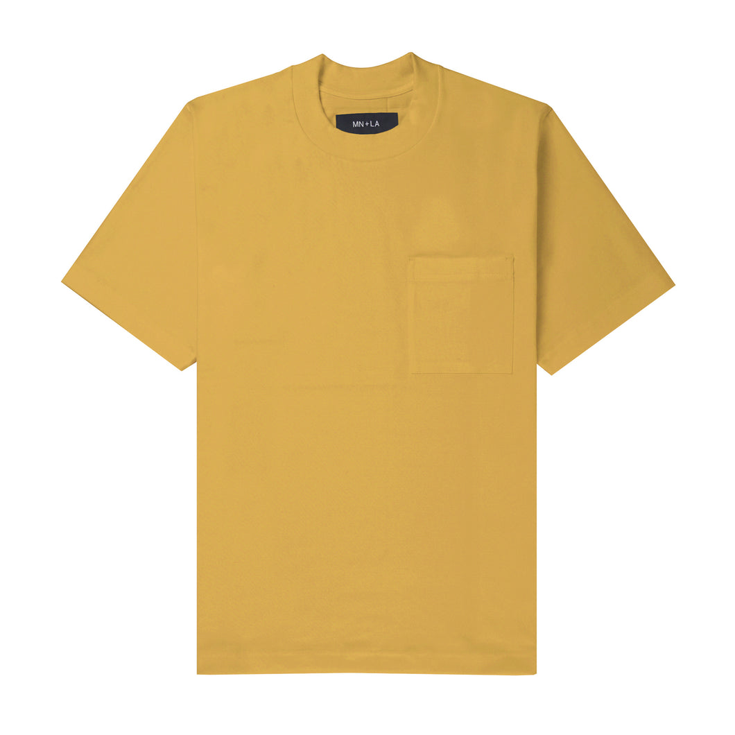 ULTRA HEAVY MUSTARD OVERSIZED POCKET TEE