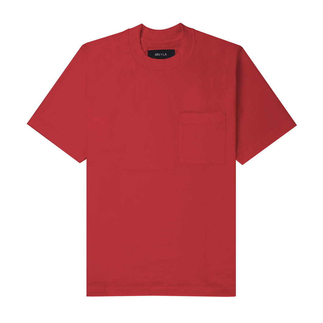 ULTRA HEAVY FADED RED OVERSIZED POCKET TEE