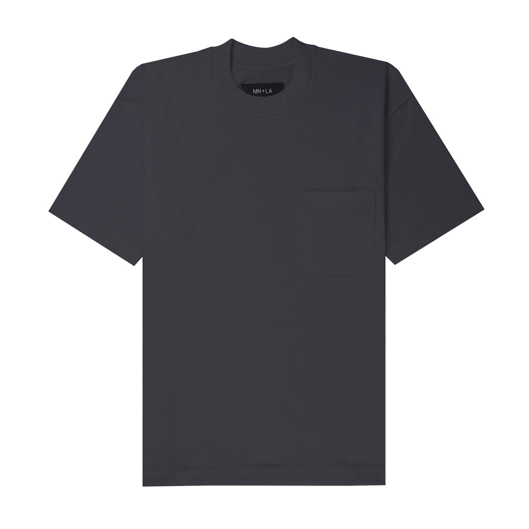 ULTRA HEAVY CHARCOAL GREY POCKET BOX TEE