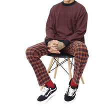 RUST FLANNEL LOUNGE PANTS