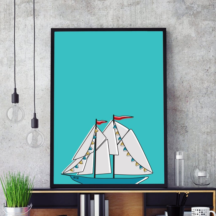The Schooner  | Art Print