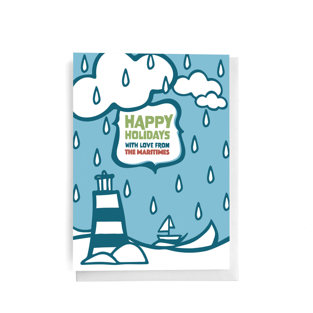 Happy Holidays With Love from The Maritimes | English Greeting Card
