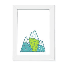 Mountains  | Art Print | Whimsical Collection