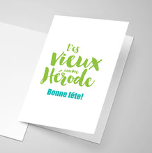 An old Acadian saying printed on a greeting card.