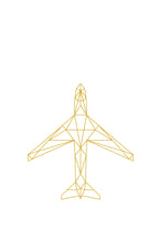 A geometric illustration of an aircraft.