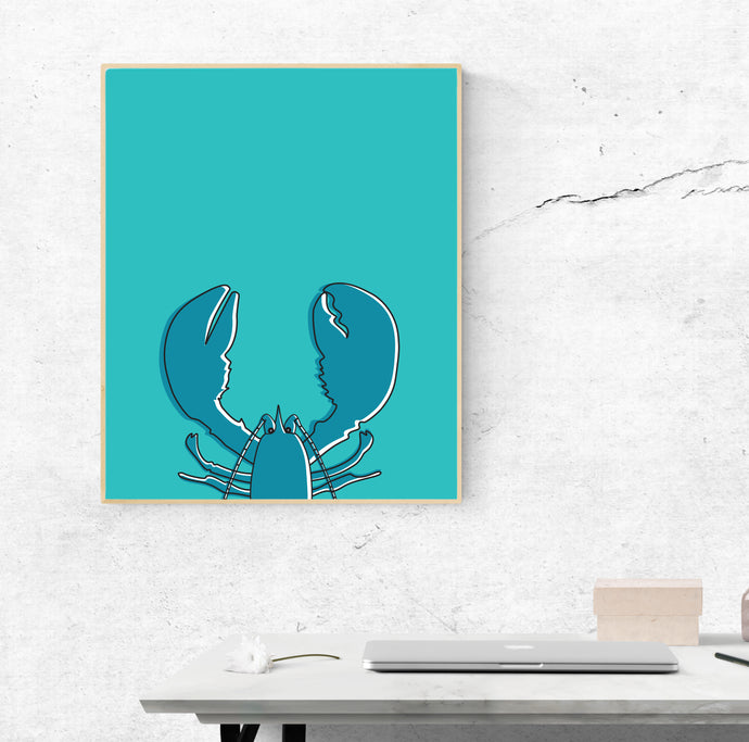 Blue Lobster  | Art Print