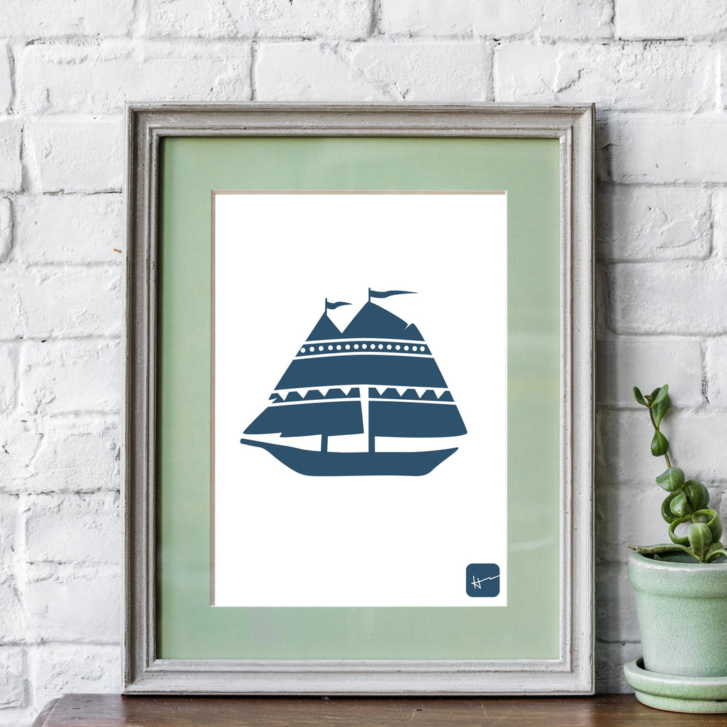 SCHOONERS & THE ATLANTIC BREEZE | Art Print