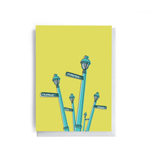 The Hydrostone Lamp Post| Salt Air Collection | Greeting Card
