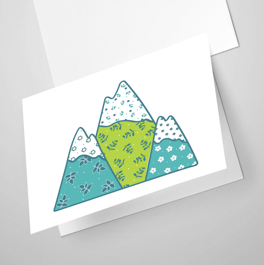 Mountains | Whimsical Collection | Greeting Card