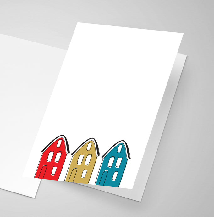 North End Houses - Halifax | Greeting Card