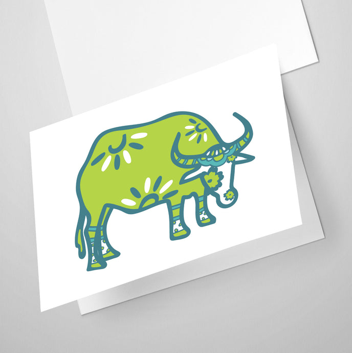 Ox | Whimsical Collection | Greeting Card
