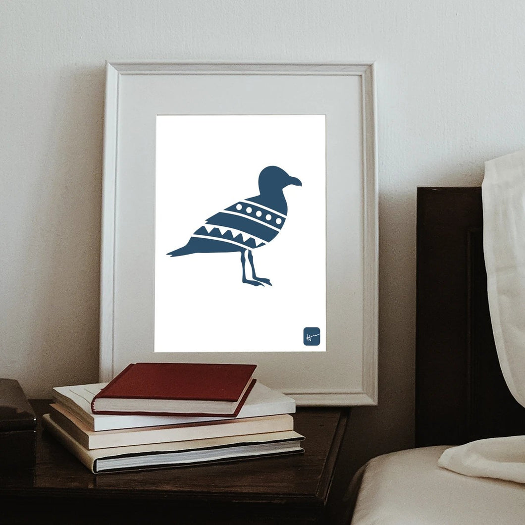 The Seagull & the Clam | Art Print