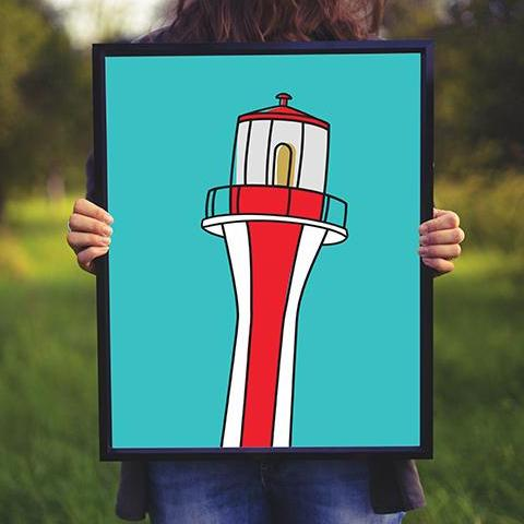 Cape Forchu Lighthouse  | Art Print