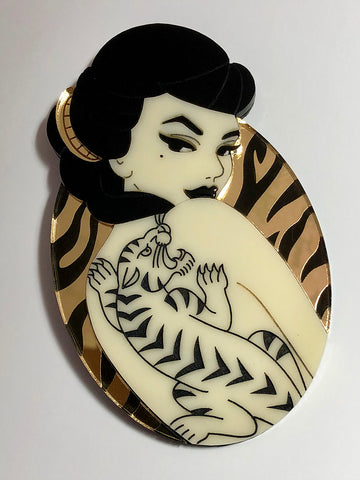 Madam Fierce Statement Acrylic Brooch